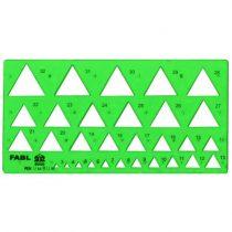 شابلون مثلث