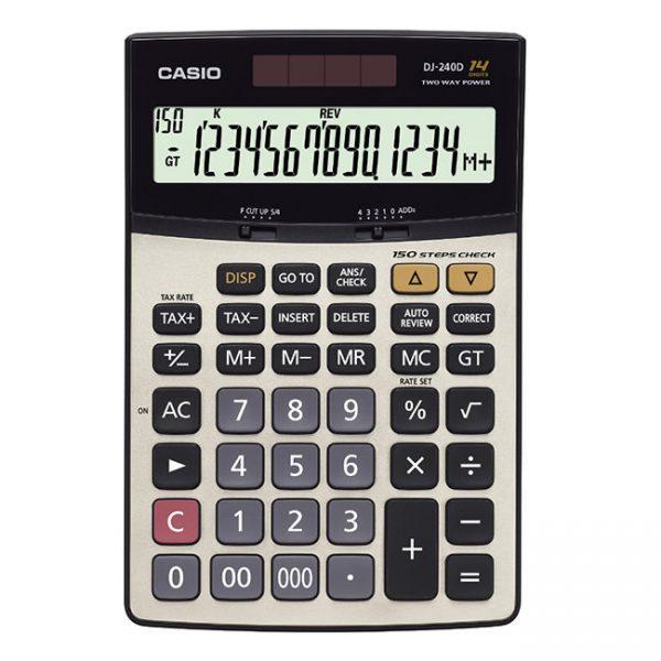 ماشین حساب رومیزی کاسیو مدل DJ-240D