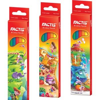 مداد رنگی 6 رنگ فکتیس