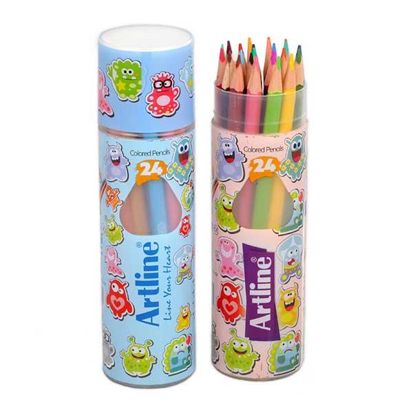 مداد-رنگی-24-رنگ-آرت-لاین-استوانه